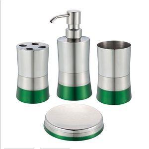 🛁 Bathroom Accessories Set 4 pc Stainless Steel